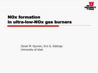 NOx formation in ultra-low-NOx gas burners
