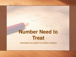 Number Need to Treat