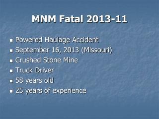 MNM Fatal 2013-11