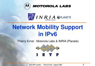 Network Mobility Support in IPv6