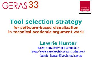 Tool selection strategy for software-based visualization in technical academic argument work