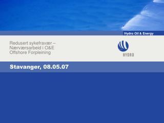 Stavanger, 08.05.07