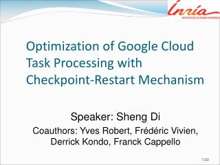 Optimization of Google Cloud Task Processing with Checkpoint-Restart Mechanism