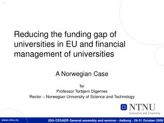 Reducing the funding gap of universities in EU and financial management of universities