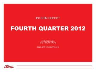Fourth  Quarter 2012