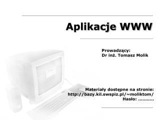 Aplikacje WWW