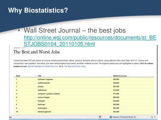 Why Biostatistics
