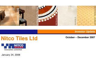 Nitco Tiles Ltd