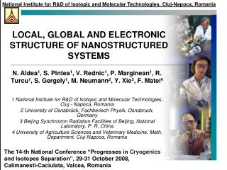 LOCAL, GLOBAL AND ELECTRONIC STRUCTURE OF NANOSTRUCTURED SYSTEMS