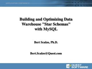 "Building and Optimizing Data Warehouse ""Star Schemas"" with MySQL"