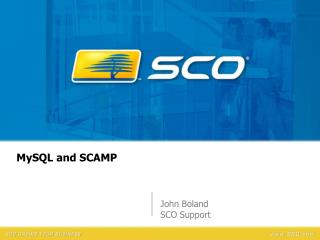 MySQL and SCAMP