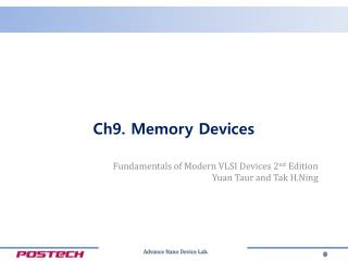 Ch9.  Memory Devices