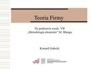 Teoria Firmy