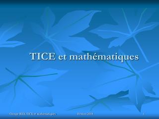TICE et math�matiques