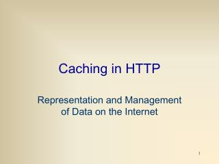 Caching in HTTP