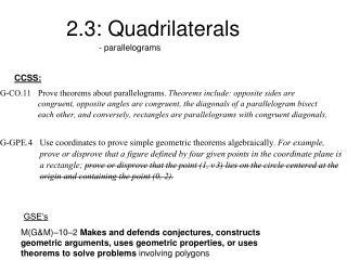 2.3: Quadrilaterals