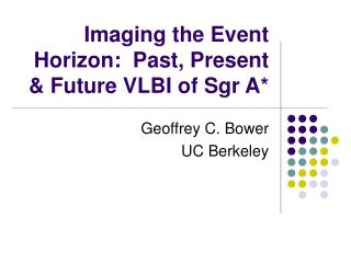 Imaging the Event Horizon:  Past, Present & Future VLBI of Sgr A*