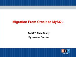 Migration From Oracle to MySQL
