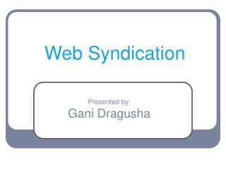 Web Syndication