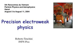 Precision electroweak physics