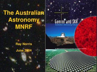 The Australian Astronomy MNRF