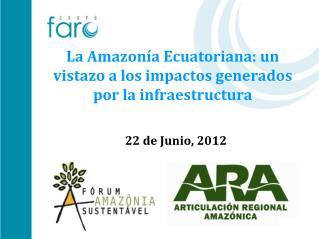 La Amazonía Ecuatoriana: un vistazo a los impactos generados por la infraestructura