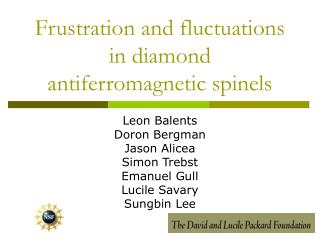 Frustration and fluctuations in diamond antiferromagnetic spinels