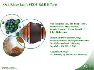 Oak Ridge Lab's SEOP R&D Efforts