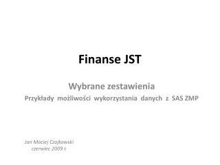 Finanse JST