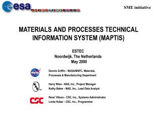 MATERIALS AND PROCESSES TECHNICAL INFORMATION SYSTEM MAPTIS