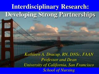 Interdisciplinary Research: Developing Strong Partnerships