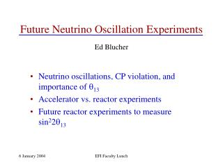 Future Neutrino Oscillation Experiments