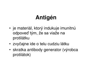 Antigén