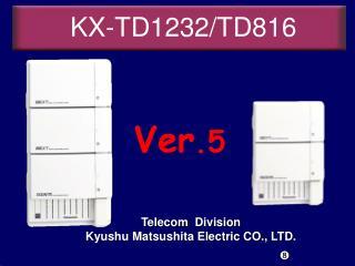 KX-TD1232/TD816