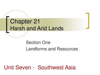 Chapter 21 Harsh and Arid Lands