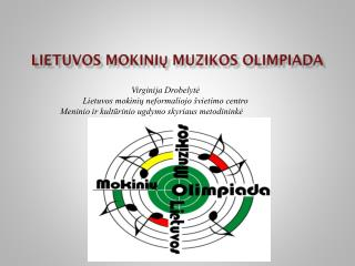 Lietuvos mokini? muzikos  olimpiada