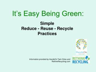 It�s Easy Being Green: