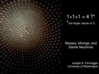 1+1+1 = 4 ?* * (for larger values of 1) Masses, Mixings, and Sterile Neutrinos