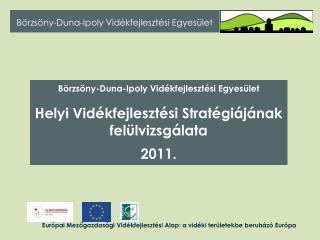 Európai Mezőgazdasági Vidékfejlesztési Alap: a vidéki területekbe beruházó Európa