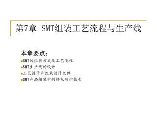 第 7 章  SMT 组装工艺流程与生产线