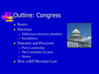 Outline: Congress