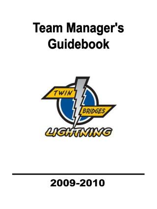 Team Manager's Guidebook
