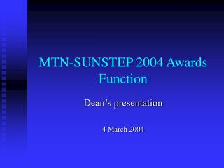 MTN-SUNSTEP 2004 Awards Function