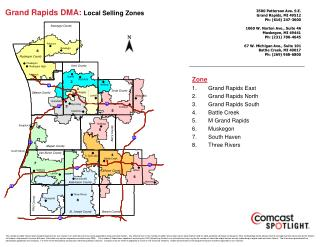 Grand Rapids DMA:  Local Selling Zones