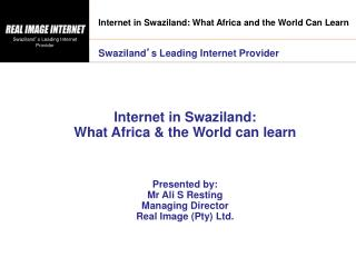 Internet in Swaziland: What Africa and the World Can Learn