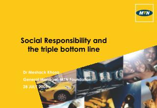 Social Responsibility and the triple bottom line