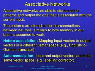 Associative Networks