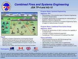 Combined Fires and Systems Engineering JSA TP-4 and AG-15