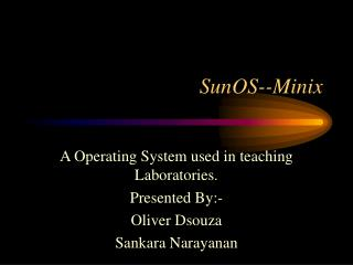 SunOS--Minix