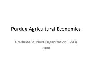 Purdue Agricultural Economics